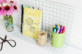Diy Desk Organizer Diy Wire Desk Organizer