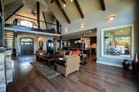 Story Open Mountain House Floor Plan   Asheville Mountain Houseasheville mountain vaulted open living room max fulbright