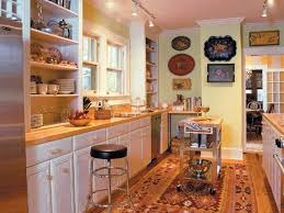 image of galley kitchen designs with island