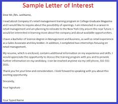How To Write A Letter Of Interest For A Job Cover Letter Samples
