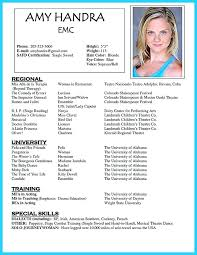 Beginner Actor Resume Impressive Actor Resume Template Word Sample Dance Resume For Audition Acting