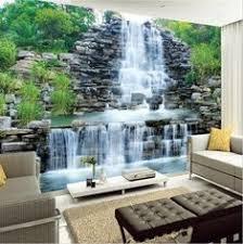 <b>Custom mural 3d photo</b> wallpaper Mountain water lake waterfall ...