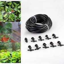 outdoor garden patio misting cooling system 33 hose with 10 plastic mist nozzles com
