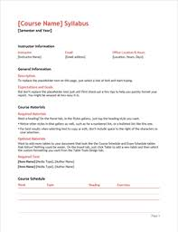 weekly syllabus template syllabus office templates