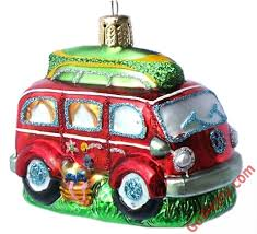 VW Bus Glass Ornament | GoWesty