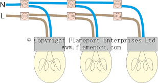 lighting circuits overview Lights in Parallel Wiring three lamps connected to an electricity supply