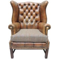 georgian style brown wing brass nail remington magnolia remington leather wingback chair with nailhead trim wing
