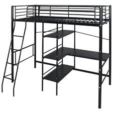 metal bunk bed with desk. Exellent Bunk High Sleeper Cabin Metal Frame Bunk Bed Loft With Desk Kids Single 3FT  Black In With