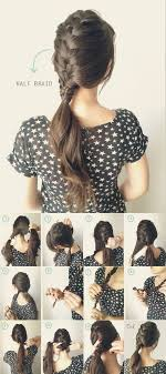 french braid ponytail tutorial easy braided hairstyles for summer