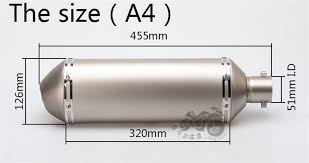 2019 51mm <b>Motorcycle</b> Yoshimura Modified Exhaust Pipe Large ...