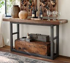 wooden console table. Wooden Console Table Pottery Barn