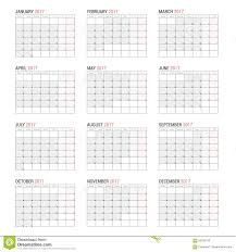 Yearly Calendar Planner Template Yearly Wall Calendar Planner Template For 2017 Year Stock Vector