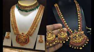 Latest Gold Haram Designs In 40 Grams Latest Long Haram Designs 40 Gram Gold Harams Catalogue