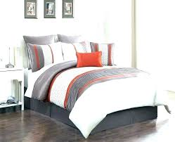 orange and white rugby stripe bedding fashion fried en fries set te comforter queen green fascinating