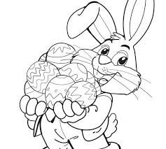 Printable Coloring Easter Bunny Agreeable Easter Bunny Coloring
