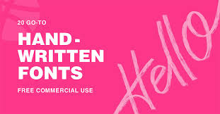 20 go to handwritten fonts free for