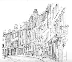 architecture sketch wallpaper. Plain Wallpaper Drawing Monochrome Architecture Artwork Line Art York Buildings Shops  Sketch Oldbuildings Black And White Neighbourhood In Architecture Sketch Wallpaper