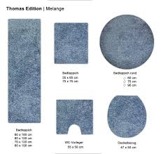 Thomas Badteppich Melange Mt 2356 50 Blue 60 X 180 Cm Amazon