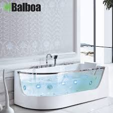 get ations 1 65 m of pure white transpa glass bathtub freestanding acrylic bathtub bathtub bubble bath 7309