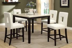 amazon poundex f2338 f1322 faux marble top with white leatherette stools counter dining set table chair sets