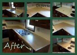 with our bullnose added we take your boring laminate counter tops to a solid surface look in no time this counter top refinishing was done in cleveland