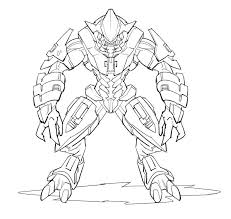 Small Picture Halo Elite Coloring Pages Coloring Pages