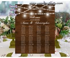 Seating Chart Wedding Rustic Wedding Seating Charts Mason Jar Wedding Seating Plan 030w