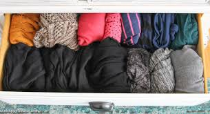 i keep my drawers folded this way my wardrobe becomes much more varied again when things are buried in piles i tend to grab what s on top and repeat
