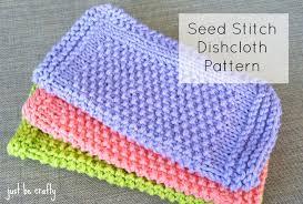 Sugar And Cream Knit Dishcloth Pattern Stunning Seed Stitch Dishcloth Pattern Free Pattern By Just Be Crafty
