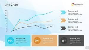 Powerpoint Line Chart With Percentage Metrics Slidemodel