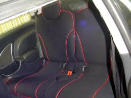 mini cooper full piping seat covers rear seats