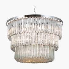 three tier drum chandelier