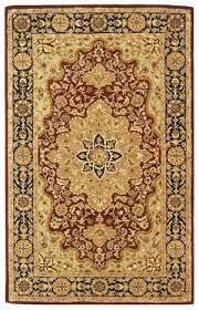 safavieh heritage hg760b red black area rug