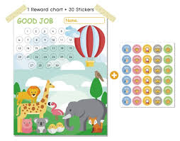 Animals Reward Chart For Kids Good Parenting Solution Chore Chart For Kids Responsibility Chart