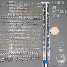 Image Result For Chain Size Guide For Jewelry Making