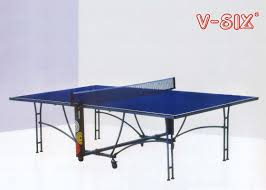u structure foldable table tennis table moveable round leg with wheels
