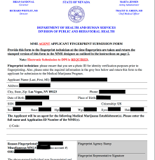 application to bee an mme agent for state of nevada redacted by databreaches net