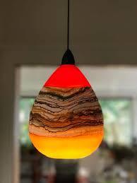 blown glass lighting. Hand Blown Glass Strata Lighting Pendant