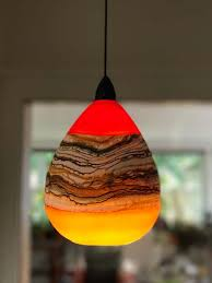 undefined hand blown glass pendant