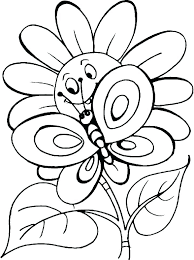 Printable Coloring Pages Of Flowers And Butterflies Coloring Pages Flowers Printable Free And Butterflies Garden