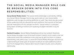 Social Media Marketing Job Description Gorgeous Media Manager Job Description Marketing Digital Media Project