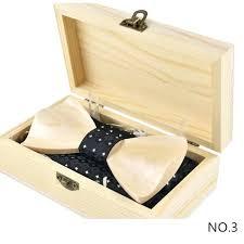 groomsmen wooden gift box high end wedding dress groom tie knot suit groomsman bow