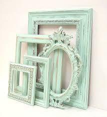 shabby chic frames shabby chic frames pastel mint green picture frame set ornate vintage frames wedding shabby chic frames