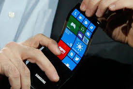 samsung phones 2014. samsung flexible display phone coming in 2015? manufacturer secretly showcases foldable amoled at ces 2014 [video] phones