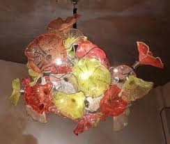 chiluly inspired hand blown hanging chandelier art glass lighting art glass lighting fixtures