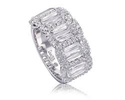 Christopher Designs Halo Engagement Ring 18kt White Gold 5 Stone Halo Diamond Fashion Ring Lamour