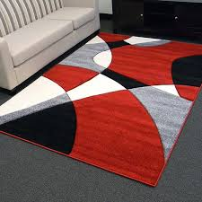 impressive designs red black. Impressive Hollywood Design 284 Abstract Wave Red Area Rug 5x7 Regarding And Gray Rugs Popular Designs Black I