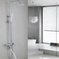 Homelody Duschsystem Schwarz Duscharmatur Höhenverstellbar