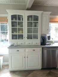 white hutch with glass doors white kitchen hutch medium size of white kitchen hutch cabinet small