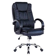 leather swivel office chair. SANTANA BLACK HIGH BACK EXECUTIVE OFFICE CHAIR LEATHER SWIVEL, RECLINE, ROCKER COMPUTER DESK FURNITURE Leather Swivel Office Chair E